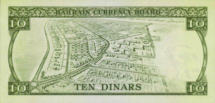 Bahrain Currency Board 10 Dinars banknote (First Issue)
