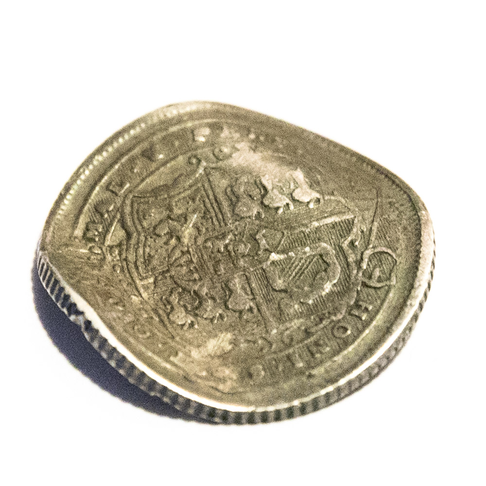crooked sixpence coin love token reverse