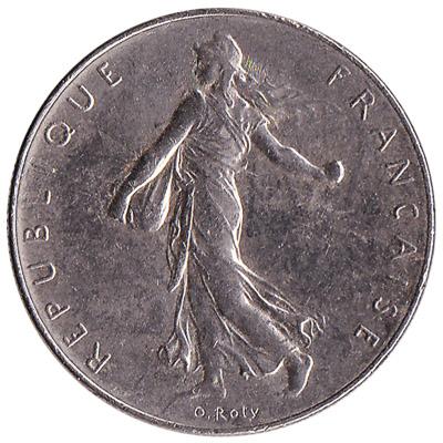 France 1 Franc coin