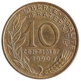 France 10 centimes coin