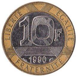 France 10 Franc coin