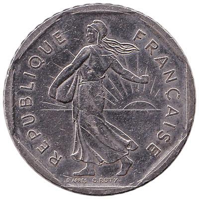 France 2 Franc coin