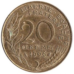 France 20 centimes coin