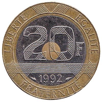 France 20 Franc coin