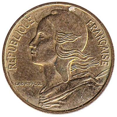 France 5 centimes coin
