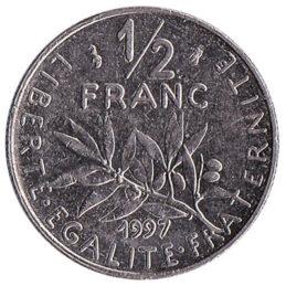 France 1/2 Franc coin