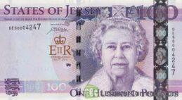 100 Jersey Pounds banknote Diamond Jubilee