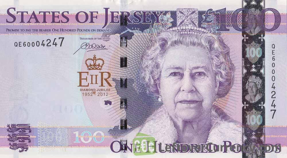 100 Jersey Pounds banknote Diamond Jubilee