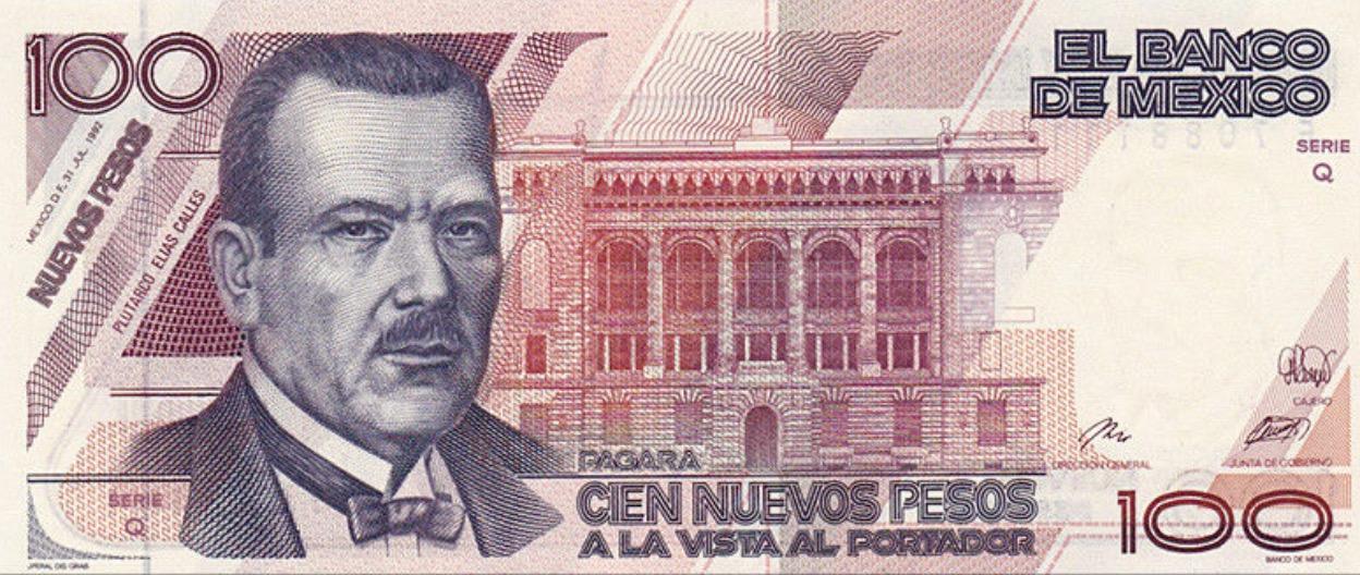100 Nuevos Pesos banknote Mexico (Plutarco Elías Calles)