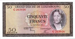 50 Luxembourg Francs banknote (Grand Duchess Charlotte)