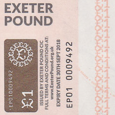 Exeter Pound Community note expiry date