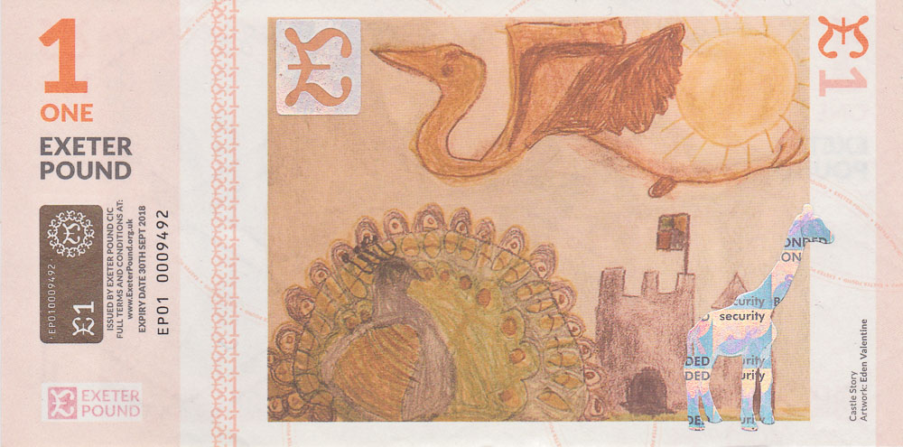 Exeter Pound community currencies note