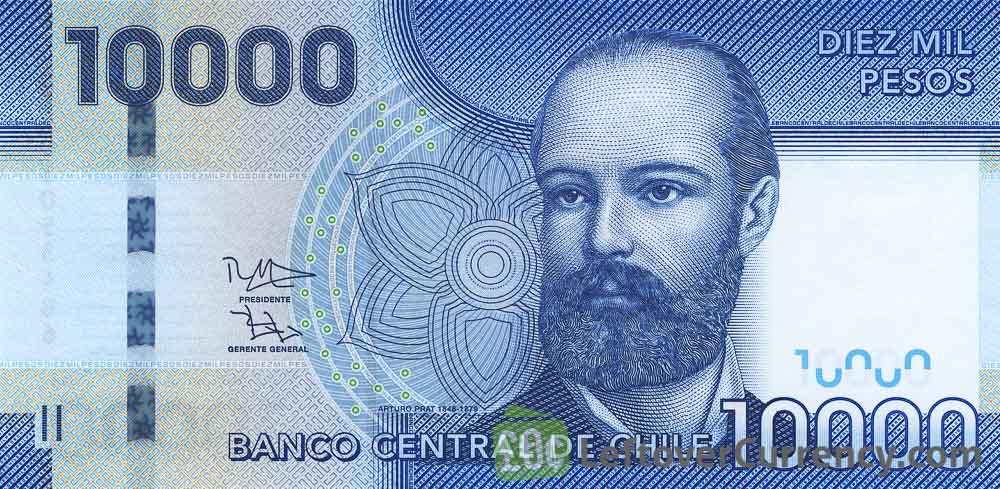 10000 Chilean Pesos banknote (Arturo Prat)