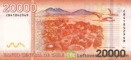 20000 Chilean Pesos banknote (Andrés Bello)