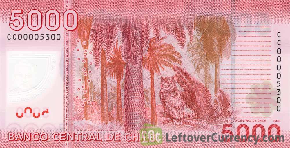 5000 Chilean Pesos banknote (Gabriela Mistral)