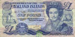 1 Falkland Islands Pound banknote