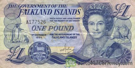 1 Falkland Islands Pound banknote