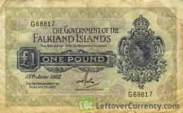 1 Pound banknote Falkland Islands (1967-1982 issue)