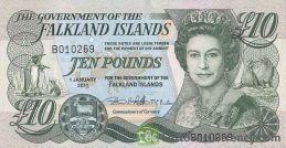 10 Falkland Islands Pounds banknote
