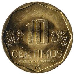 10 Peruvian Centimos coin
