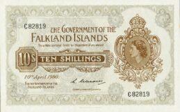 10 Shillings banknote Falkland Islands