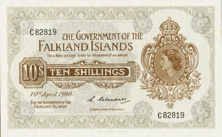 10 Shillings banknote Falkland Islands