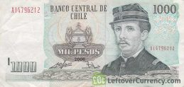 1000 Chilean Pesos banknote (type 1978 to 2009)
