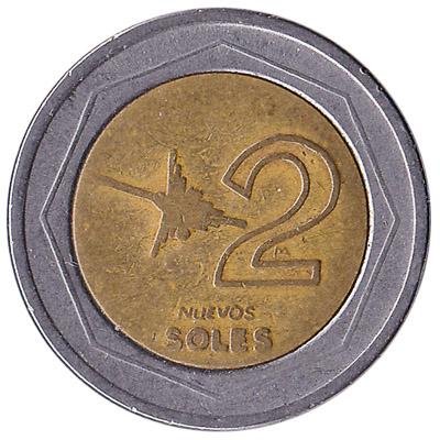 2 Peruvian Nuevos Soles coin