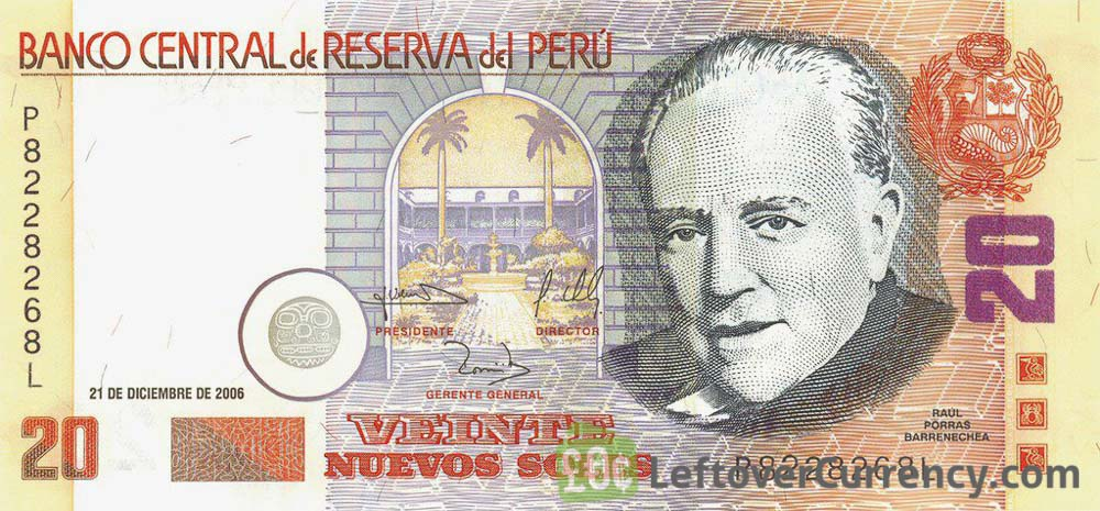 20 peruvian nuevos soles banknote 1991 2006 exchange yours today 20 peruvian nuevos soles banknote monetary reform issue altavistaventures Images