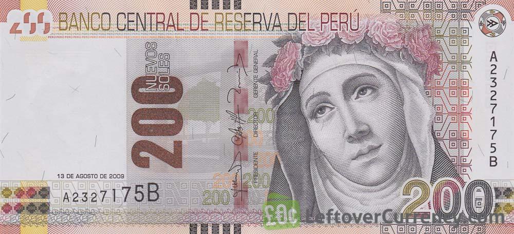200 peruvian sol banknote rosa de lima