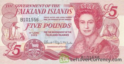 5 Falkland Islands Pounds banknote
