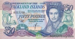 50 Falkland Islands Pounds banknote