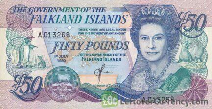 50 Falkland Islands Pounds banknote
