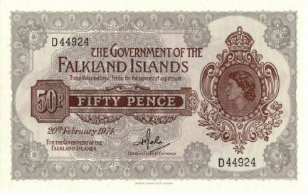 50 Pence banknote banknote Falkland Islands (1969-1974 issue)