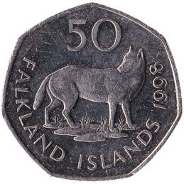 50 pence coin Falkland Islands