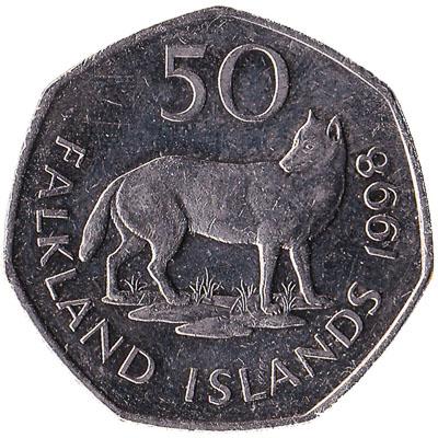 50 pence coin Falkland Islands