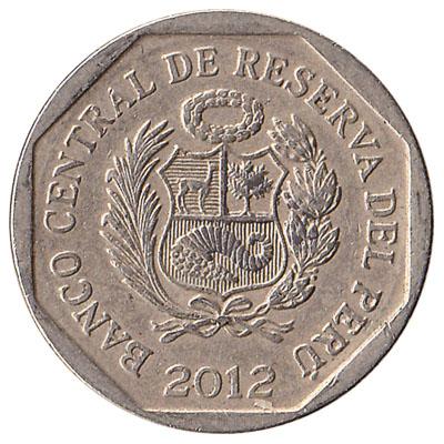 50 Peruvian Centimos coin