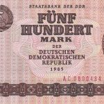 500 DDR mark banknote