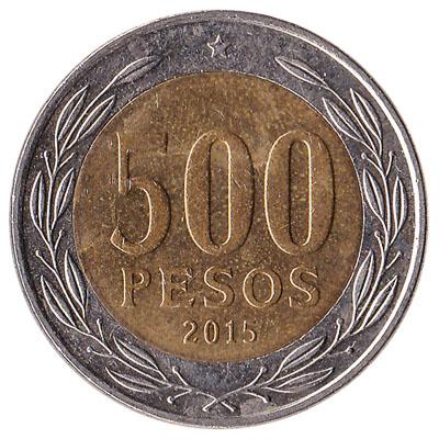 500 Chilean Pesos coin