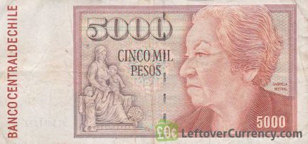 5000 Chilean Pesos banknote (type 1981 to 2008)