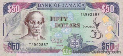 50 Jamaican Dollars banknote (Samuel Sharpe)