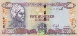 500 Jamaican Dollars banknote (Nanny of the Maroons)