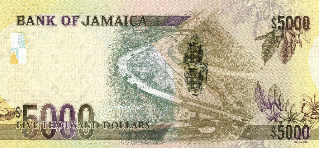 5000 Jamaican Dollars Banknote Hugh Shearer