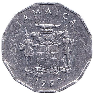 1 cent coin Jamaica