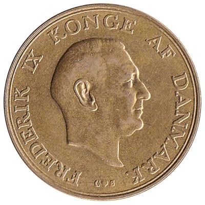 1 Danish Krone coin Frederik IX (aluminium-bronze)