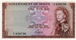 1 Pound banknote (Government of Malta)