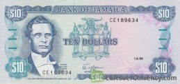 10 Jamaican Dollars banknote (George William Gordon)