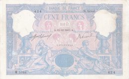 100 French Francs banknote (Bleu et Rose)