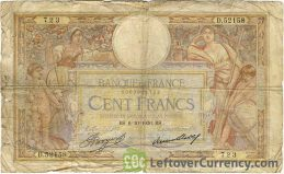 100 French Francs banknote (Luc Olivier Merson)
