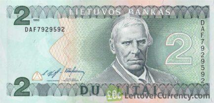 2 Litai banknote Lithuania